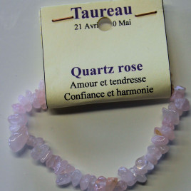 Taureau – quartz rose