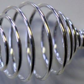 Ressort en métal couleur argenté grand modèle