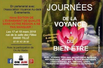 Salon de la voyance et du bien etre de Tillé les 17 et 18 mars